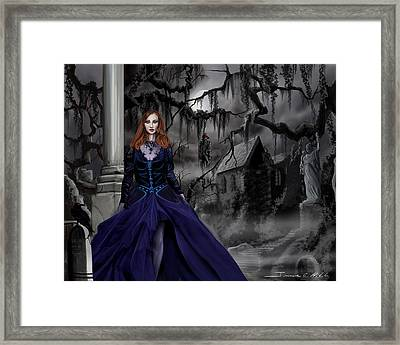 The Darkness Of The South Framed Print by James Christopher Hill
