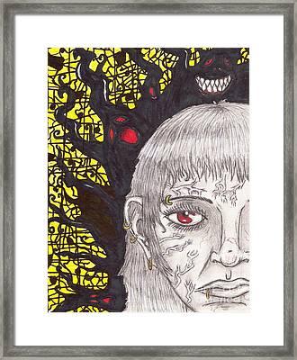 The Darkness Within Framed Print by Joshua Massenburg