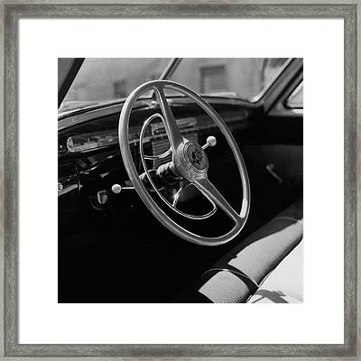 The Dashboard Of A Frazer Sedan Framed Print
