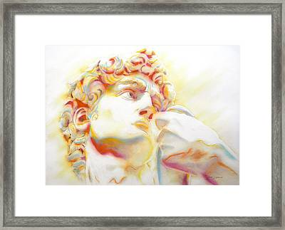 The David By Michelangelo. Tribute Framed Print