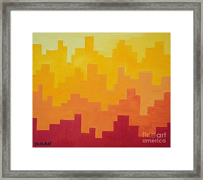 The Dawn Is Breaking Framed Print by Taikan Nishimoto