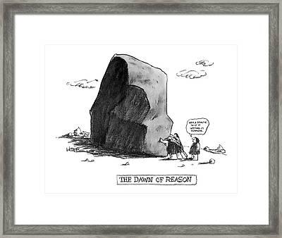 The Dawn Of Reason Framed Print by Robert Weber