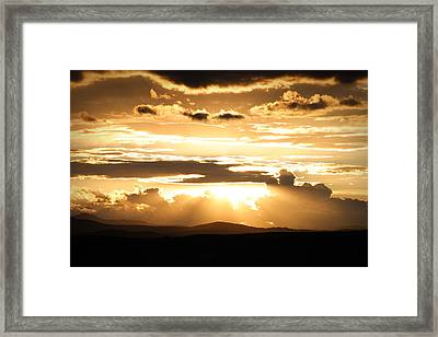 The Day It Started Framed Print