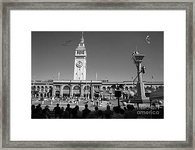 The Day The Circus Came To Town Again Dsc1745 Bw Framed Print by Wingsdomain Art and Photography