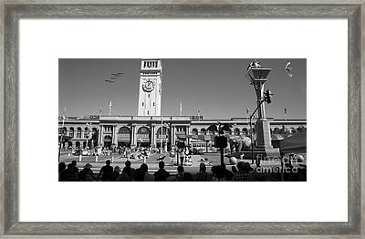 The Day The Circus Came To Town Again Dsc1745 Long Bw Framed Print by Wingsdomain Art and Photography