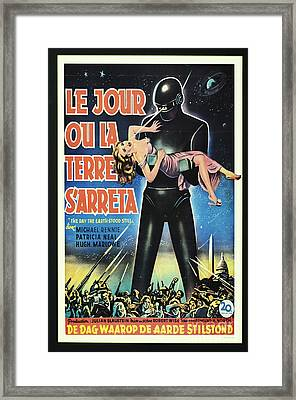 The Day The Earth Stood Still Vintage Poster Framed Print by Bob Christopher