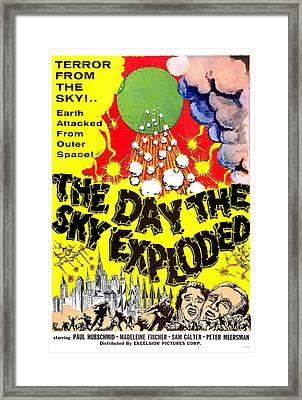 The Day The Sky Exploded, Aka La Morte Framed Print by Everett