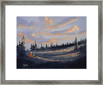 Framed Print featuring the painting The Days End by Richard Faulkner