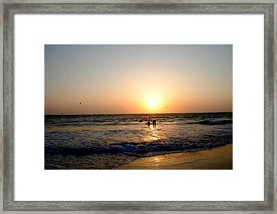 The Dazzle Of Twilight Framed Print by Vijinder Singh