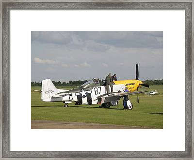 The De-briefing Framed Print by Ted Denyer