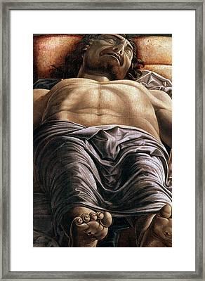 The Dead Christ Framed Print by Andrea Mantegna