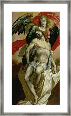 The Dead Christ Supported By An Angel  Framed Print