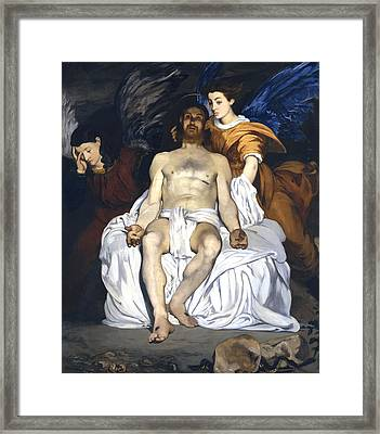The Dead Christ With Angels Framed Print by Edouard Manet