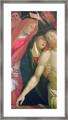 The Dead Christ With The Virgin And Saints Framed Print by Gaudenzio Ferrarri