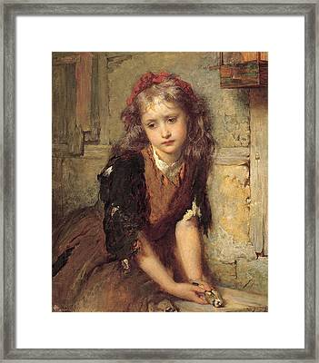 The Dead Goldfish Framed Print by George Elgar Hicks
