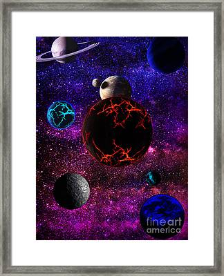 The Dead Solar System  Framed Print by Naomi Burgess