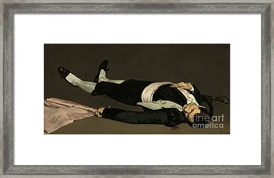 The Dead Toreador Framed Print by Edouard Manet
