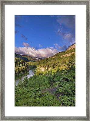 The Dearborn River In The Lewis Framed Print by Chuck Haney