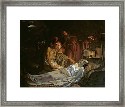 The Death Of Atala Framed Print by Cesare Mussini