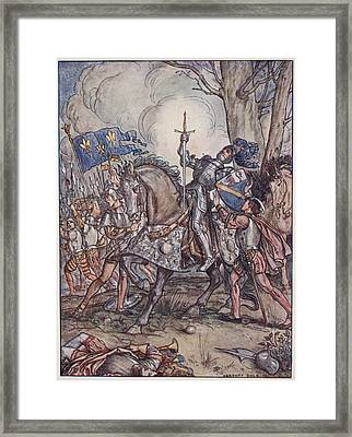 The Death Of Bayard, Illustration Framed Print by Herbert Cole