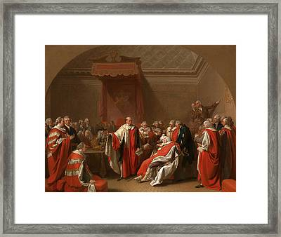 The Death Of Chatham The Death Of The Earl Of Chatham Framed Print by Litz Collection