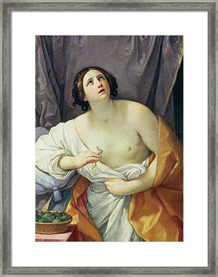 The Death Of Cleopatra Framed Print by Guido Reni