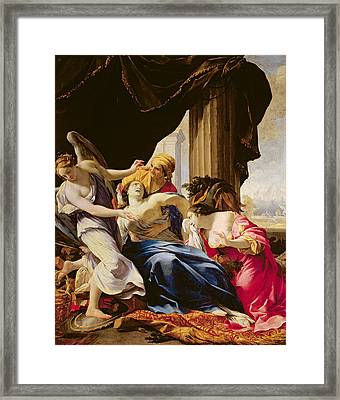 The Death Of Dido, 1642-43 Oil On Canvas Framed Print by Simon Vouet