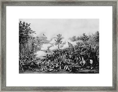The Death Of General James B. Mcpherson At The Battle Of Atlanta, July 22nd, 1864, Pub. By Kurz & Framed Print by American School