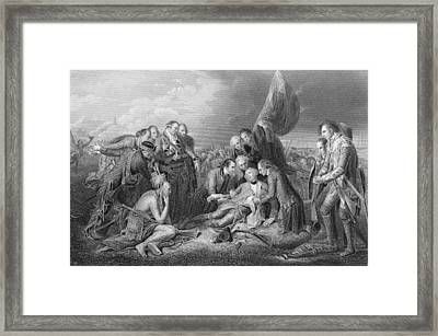 The Death Of General Wolfe, 1759, From The History Of The United States, Vol. I, By Charles Mackay Framed Print