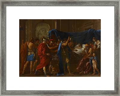 The Death Of Germanicus Framed Print by Nicolas Poussin