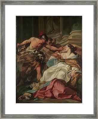 The Death Of Harmonia Framed Print by Jean-Baptiste Marie Pierre