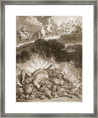 The Death Of Hercules, 1731 Framed Print