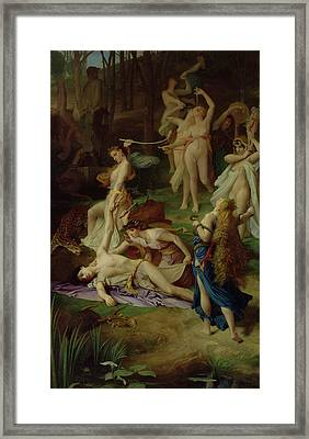 The Death Of Orpheus Framed Print