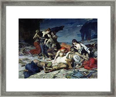The Death Of Ravana Framed Print by Fernand Cormon