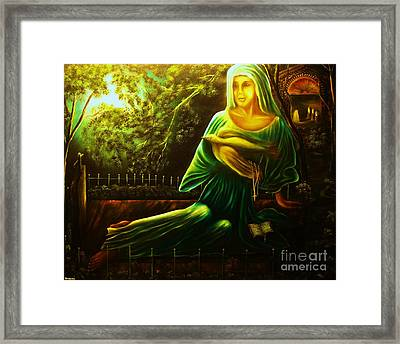 The Death Of Ruth- Private Art Collection-buy Giclee Print Nr 33 Of Limited Edition Of 40 Prints Framed Print