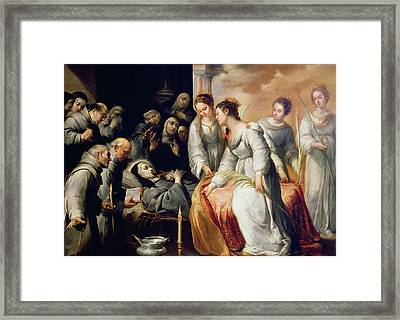 The Death Of Saint Clare Framed Print by Bartolome Esteban Murillo