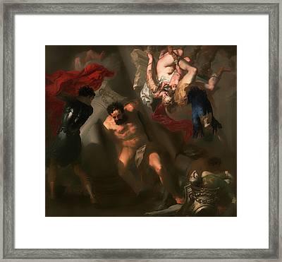 The Death Of Samson Framed Print by Mountain Dreams