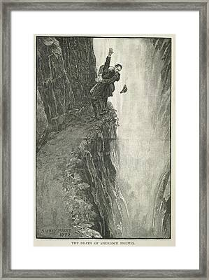 The Death Of Sherlock Holmes Framed Print by British Library