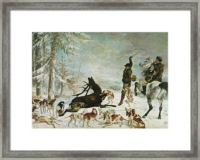 The Death Of The Deer, 1867 Oil On Canvas Framed Print