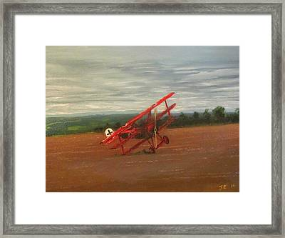 The Death Of The Red Baron Framed Print by Jon Castillo