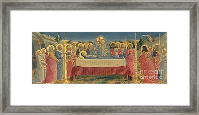 The Death Of The Virgin Framed Print by Fra Angelico