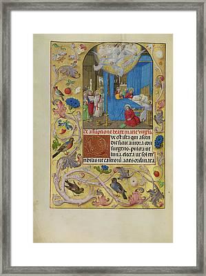 The Death Of The Virgin Master Of The Lübeck Bible Bruges Framed Print