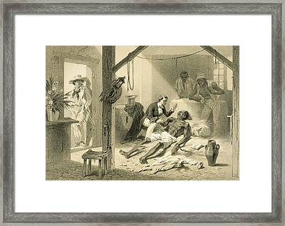 The Death Of Uncle Tom, Plate 11 Framed Print by Adolphe Jean-Baptiste Bayot
