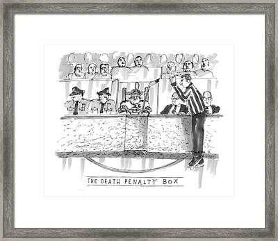 The Death Penalty Box Framed Print by Michael Crawford