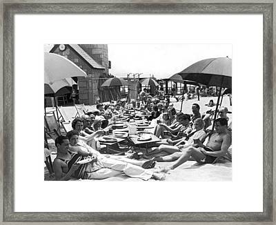 The Deauville Breakfast Club Framed Print by Underwood Archives