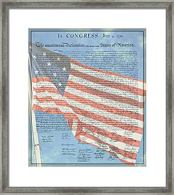 The Declaration Of Independence - Star-spangled Banner Framed Print by Stephen Stookey