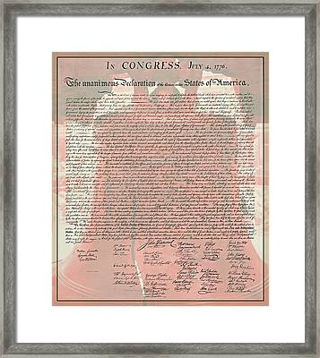 The Declaration Of Independence Framed Print by Stephen Stookey