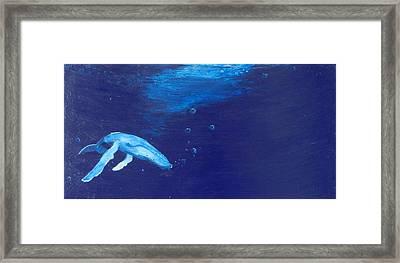 The Deep Framed Print by Kristen Ashton