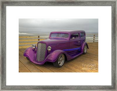 The Deep Purple Ride Framed Print