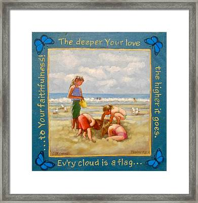 The Deeper Your Love Framed Print by Janet McGrath